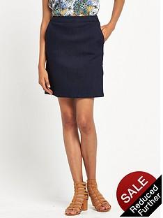 warehouse-a-line-skirt-indigo
