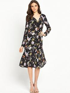 warehouse-butterfly-print-silk-dress