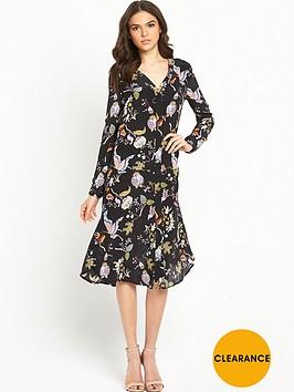 warehouse-butterfly-print-silk-dress