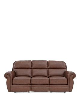 Ripon 3Seater Premium Leather Power Recliner Sofa