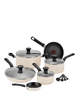 Tefal Excite 7Piece Aluminium Pan Set  Cream