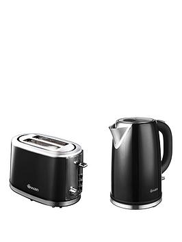 Swan Kettle And 2Slice Toaster Pack  Black