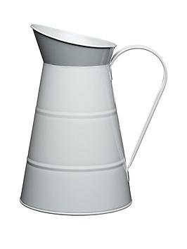 living-nostalgia-23-litre-enameled-steel-water-jug-in-grey