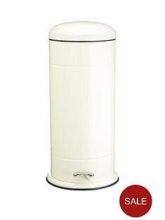 living-nostalgia-30-litre-pedal-bin-in-cream