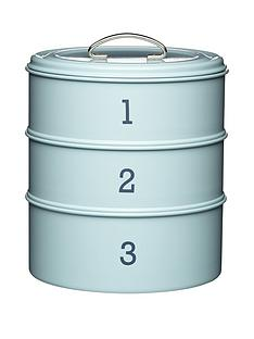living-nostalgia-3-tier-steel-cake-tin-in-blue