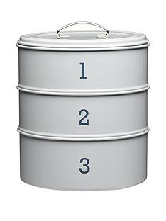 living-nostalgia-3-tier-steel-cake-tin-in-grey