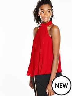 v-by-very-high-neck-pleated-blouse
