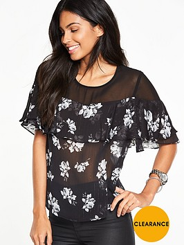 v-by-very-mesh-yoke-floral-ruffle-blouse