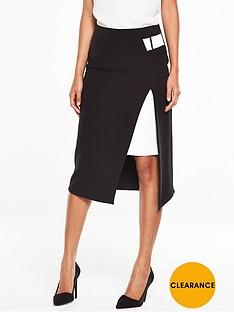 v-by-very-buckle-detail-asymmetric-skirt