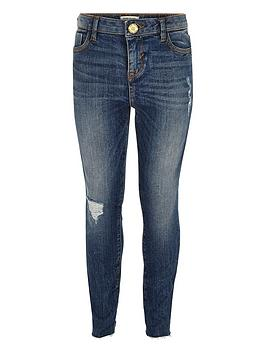 river-island-girlsnbspamelie-rip-and-repair-skinny-jeans
