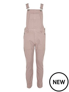 river-island-pale-pink-dungaree