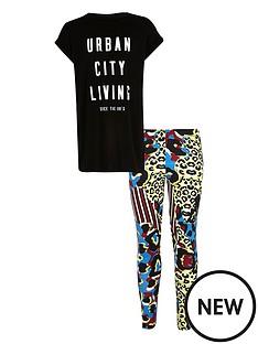 river-island-girls-slogan-t-shirt-and-animal-print-leggings-set