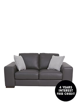 Remarkable Sandy 2 Seater Premium Leather Sofa Littlewoods Com Theyellowbook Wood Chair Design Ideas Theyellowbookinfo