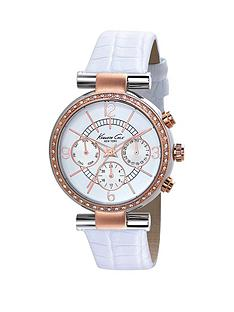 kenneth-cole-kenneth-cole-white-dial-chronograph-rose-detailing-white-leather-strap-ladies-watch
