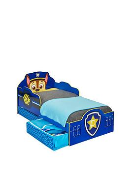 Paw Patrol Paw Patrol Chase Toddler Bed With Storage By Hellohome Picture