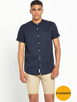 river-island-grandad-collar-short-sleeve-shirt
