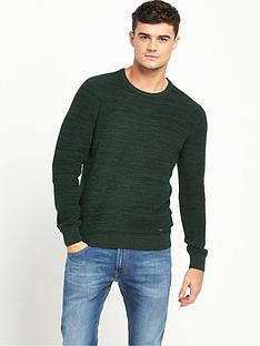lee-winter-crew-neck-jumper-bottle-green