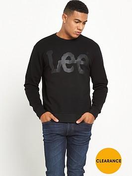 lee-logo-sweatshirt-black