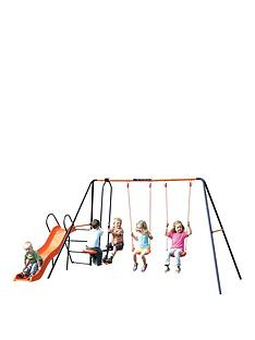 hedstrom-hedstrom-europa-double-swing-glider-and-slide-combination