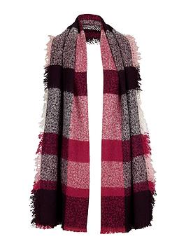 v-by-very-bobble-multi-check-blanket-scarf