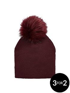 v-by-very-fine-knit-pom-pom-beanie