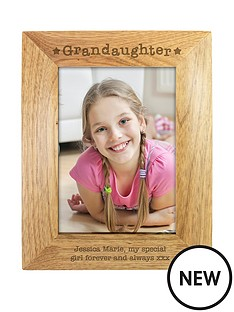 personalised-granddaughter-wooden-photo-frame
