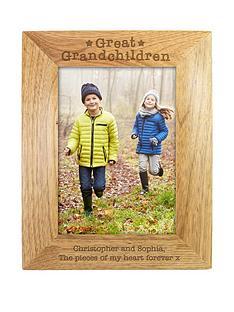 personalised-great-grandchildren-wooden-photo-frame