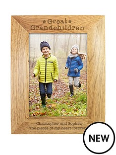 personalised-great-grandchildren-wooden-photo-frame
