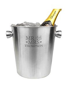 personalised-mr-amp-mrs-stainless-steel-ice-bucket