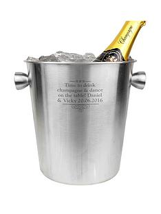 personalised-stainless-steel-ice-bucket