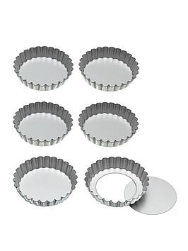 Kitchen Craft Kitchen Craft LooseBottom Tart Tins 10Cm Set Of Six