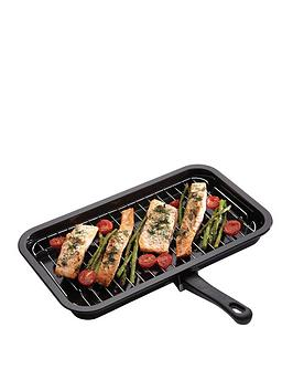 Kitchen Craft Kitchen Craft NonStick Enamel Grill Pan 40X23Cm