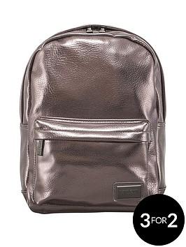 redland-pantone-pu-metallic-backpack-pewter
