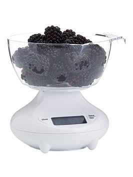 Kitchen Craft Kitchen Craft Digital Add N Weigh Scales 1Kg (3.5Lbs)