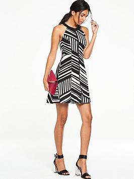 v-by-very-ponte-fit-and-flare-zip-dress