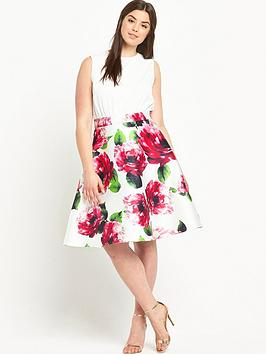 ax-paris-curve-floralnbspprint-dress