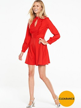 v-by-very-high-neck-ruffle-front-dress