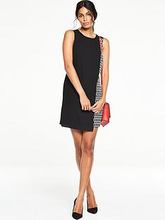 v-by-very-overlay-printed-dress-black