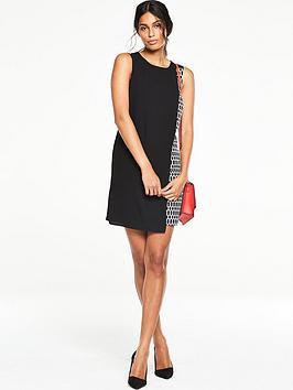v-by-very-overlay-printed-dress-black