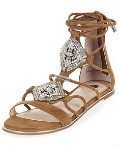 river-island-embellished-flat-ankle-tie-gladiator-sandal