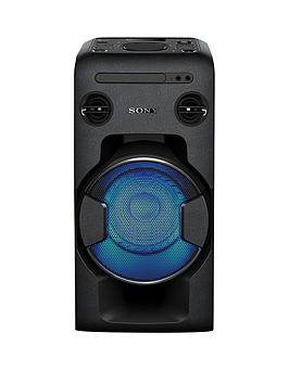 Sony MhcV11 High Power Home Audio System With Bluetooth  Black