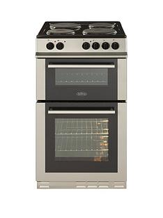 belling-fs50et-50cm-twin-cavity-electric-cooker-with-optional-connection-silver