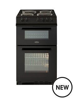belling-fs50et-50cm-twin-cavity-electric-cooker-with-optional-connection-black