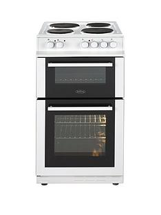 belling-fs50efdo-50cm-double-oven-electric-cooker-with-connection-white