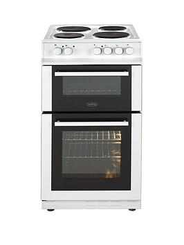 Belling Fs50Efdo 50Cm Double Oven Electric Cooker Wit Optional Connection  White  Cooker Only