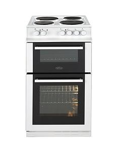 belling-fs50efdo-50cm-double-oven-electric-cooker-with-optional-connection-white