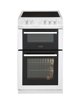 Belling Fs50Edoc 50Cm Double Oven Electric Ceramic Cooker   Cooker With Connection