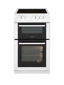 belling-fs50edofc-50cm-double-oven-electric-ceramic-cooker-with-optional-connection-white