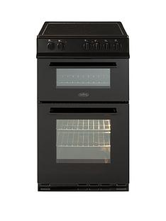 belling-fs50edofc-50cm-double-oven-electric-ceramic-cooker-with-optionalnbspconnection-black