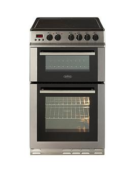 Belling Fs50Edopc 50Cm Double Oven Electric Ceramic Cooker   Cooker With Connection